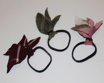 Set of 3 Plaid Hair Ties