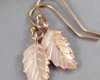 Rose Gold Leaf,Earrings,Gold Earrings,Rose Gold Filled,Rose Gold,Rose Gold Leaf ,Earrings,Nature,Leaf,Leaves ,Handmade by SeaMaidenJewelry