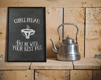 Cafe printable, coffee chalkboard printable, 8x10 printable, A4 Printable, chalkboard Instant Download, kitchen printable, office wall decor