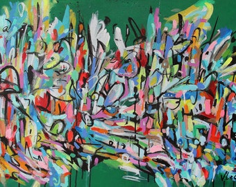 """Custom Abstracts 26"""" x 48"""""""