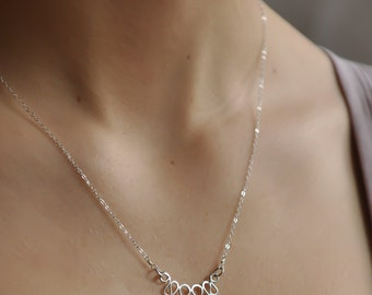 Simple everyday boho necklace, Gypsy necklace, Modern boho gold necklace, Contemporary silver necklace, Bohemian layering necklace, NS7