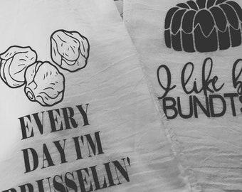 Funny Flour Sack Tea Towels