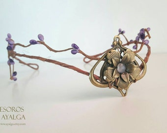 Woodland elf tiara - elven headpiece - fairy crown