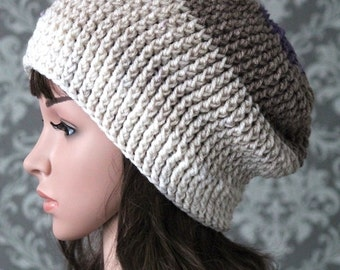 Crochet Pattern - Crochet Slouchy Hat Pattern - Easy Crochet Hat Pattern - Slouchy Beanie - Includes 5 sizes Baby to Adult Large - PDF  440