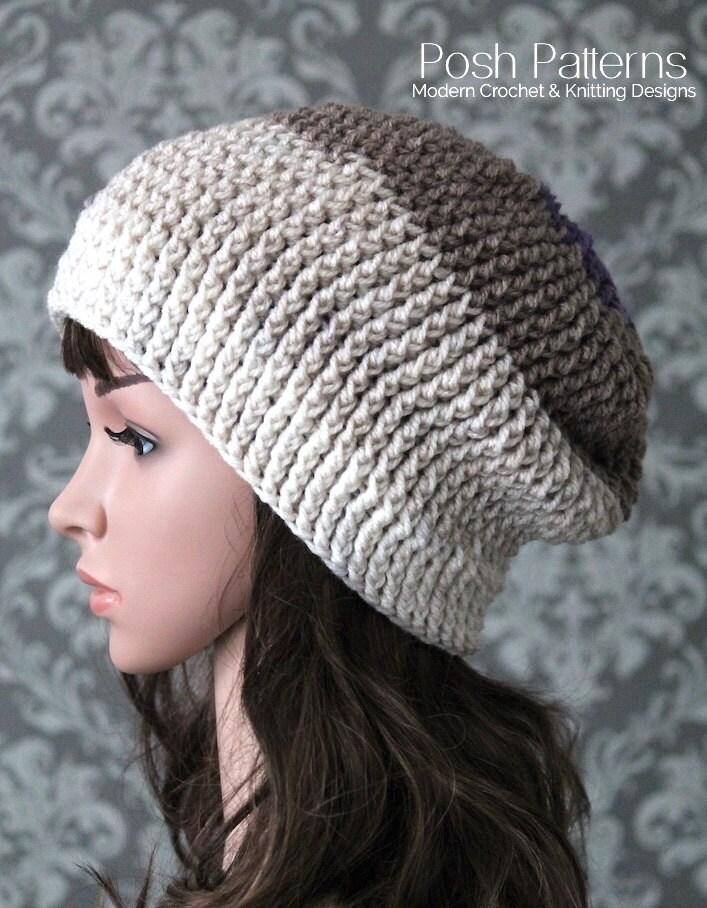 Crochet Pattern Crochet Slouchy Hat Pattern Easy Crochet