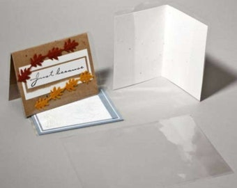 CJ39 100 Clear Card Jackets for A7 5x7 Card and Envelope