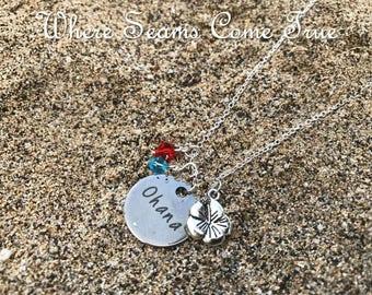 Lilo and Stitch Quote Necklace (Ohana)