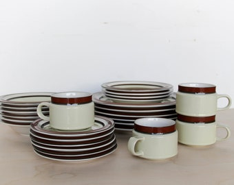 Vintage Ceramic Dinnerware / Dishware Plates Bowls Mugs Set by Spectrum Stoneware Mugs Mid Century & Ceramic dinnerware | Etsy