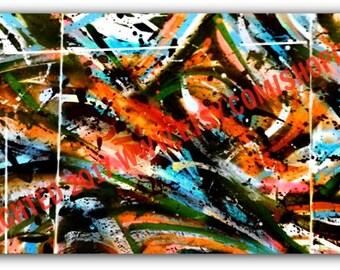 Graffiti Canvas - Abstract Graffiti Art Canvas