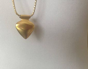 Anne Klein / Necklace / Puffy Heart / Vintage