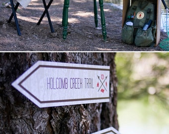 Outdoorsman Camping Birthday PRINTABLE Party Collection - You Customize EDITABLE TEXT >> Instant Download | Paper and Cake