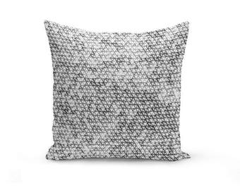 Throw Pillow Cover, Black Grey White , Accent Pillow Cover, Decorative Pillow, Home Decor, Neutral Decor, Geometric Pillow Cover