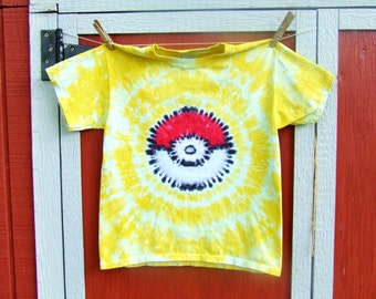 Youth Size Pokemon Team Instinct Tie Dye Tshirt - Made to order - Youth XS S M L