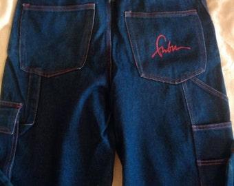 FUBU jeans, vintage baggy jeans of 90s hip-hop clothing, 1990s hip hop shirt, OG, gangsta rap, size 32