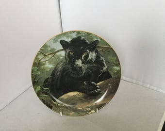 Franklin Mint collectors plate , Silent Watch , National Wildlife Federation , plate number qa 5859 , limited edition , fine porcelain ,