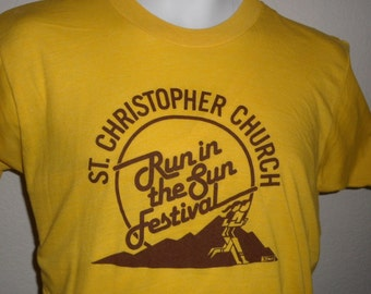 Vintage Original 1980s Run in the Sun Festival BARBARY COAST CASINO Las Vegas Soft Thin T Shirt M