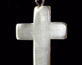 2pc - 23mm WHITE Cats Eye Fiber Optic Cross Pendant Charm