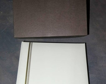 BTS White 5x5 Wedding Proof Book / Album with 20 pages and order forms for 40 prints