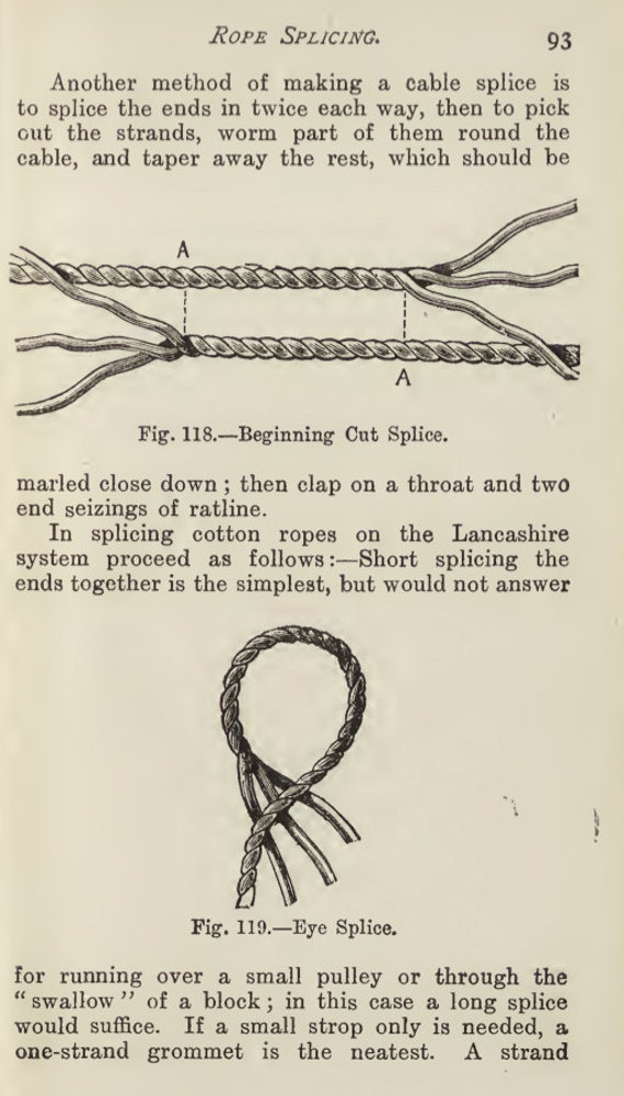 How to knot and splice ropes 158 pages illustrated printable 50 fandeluxe Gallery