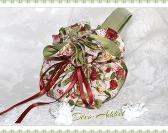 Lovely floral cotton pouch