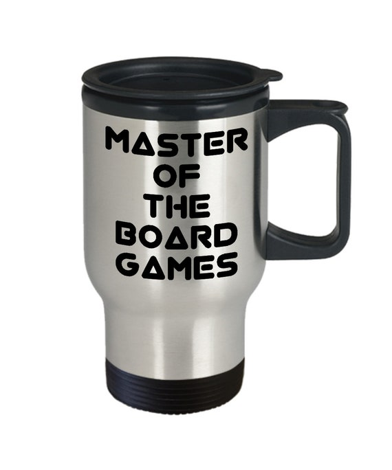 Board game travel mug - master of the board games coffee tea cup
