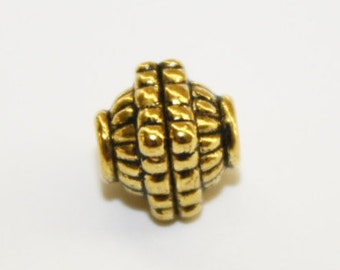 Spacers, Antique Gold Bead Spacer, Bead Spacer, Ship From Texas - 8x7mm - 20ct - #533