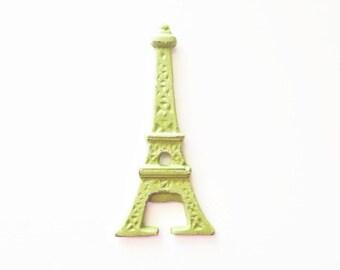 Fun Bar Cart Decor. Colorful Kitchen. Paris Bar Accessory. Housewarming Party. Bartender Gifts. Green Eiffel Tower Hostess Gift.