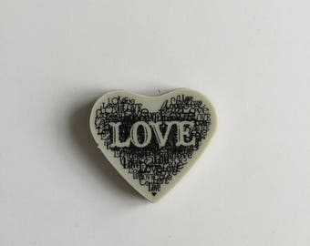 "Stampin Up Retired Cling ""Love Heart"" Rubber Stamp, Brand New, Never Used!  Perfect for Card Making or Scrapbooking"