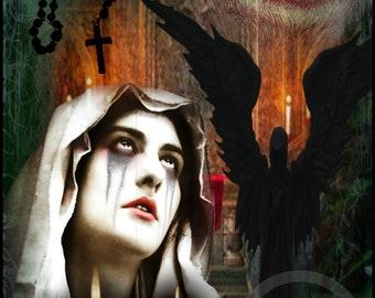 Gothic Art Print - FALLEN A4