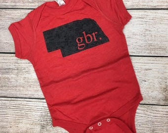 Baby Nebraska bodysuit- gbr