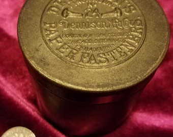 Dennison's Brass Tin Paper Fasteners