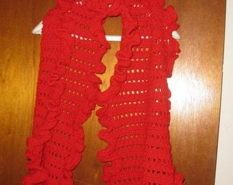Handmade Ruffled Scarf