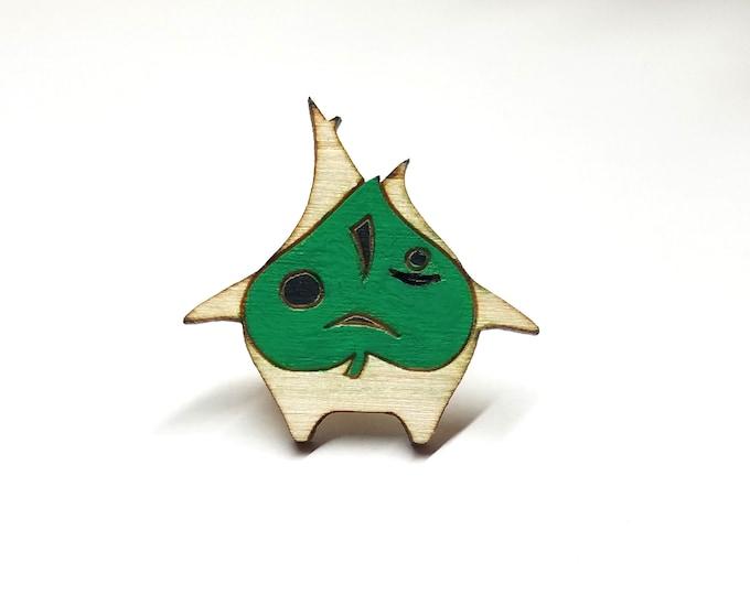 Korok Breath of the Wild Zelda Pin | Laser Cut Jewelry | Handmade Pin | Wood Pin