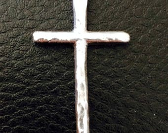 Cross hammered Tin - unique