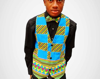 Mwokozi Men Vest with Tie
