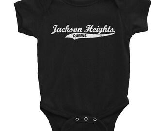 Jackson Heights Queens Retro Queens Vintage NYC Infant Bodysuit