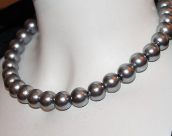 Silver Pearl Jewelry, Silver Pearl Necklace, Silver Beaded Jewelry, Silver Beaded Necklace, Pearl Jewelry Silver, Pearl Necklace  Silver
