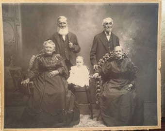 Antique Victorian Photograh From Illinois