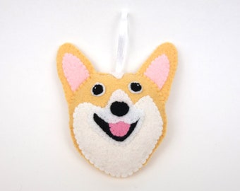Felt Dog Ornament - Corgi