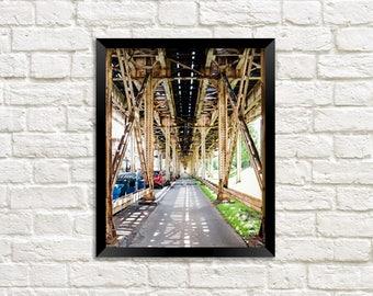 Train Tracks - Chicago CTA - Chicago Train - Chicago Photography - El Tracks