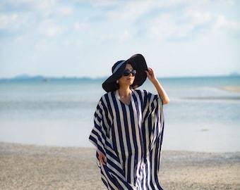 Anchors Away Caftan/Beautiful Petite Caftan dress/Blue and White/Chiffon/Kaftan/Maxi Dress/Resort Wear/ Split-Sleeve/Beach Cover Up/One Size