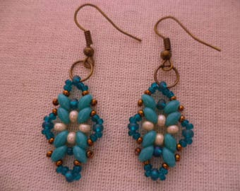 TUTORIAL. ART DECO coordinate. intermediate level. Instruccions for earrings, necklasce and bracelet. Instant Download.