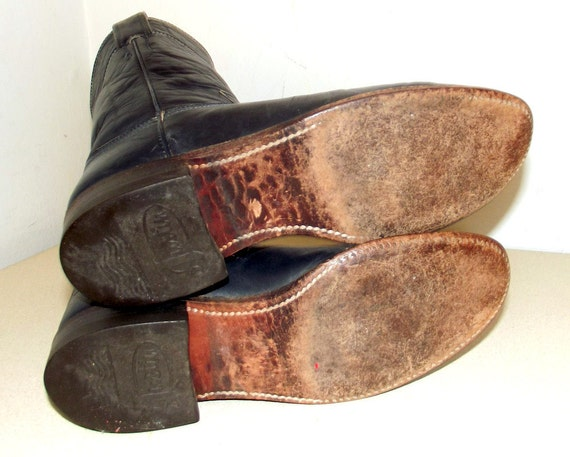 Justin 5 brand B Dark style Blue size Roper Cowboy boots 50qx0PYRwE