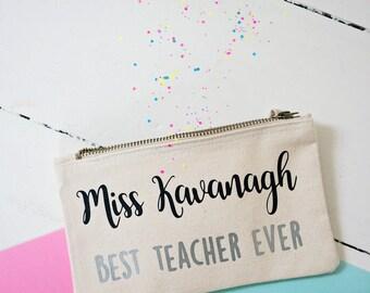 Best teacher ever pencil case - end of term, teacher gift