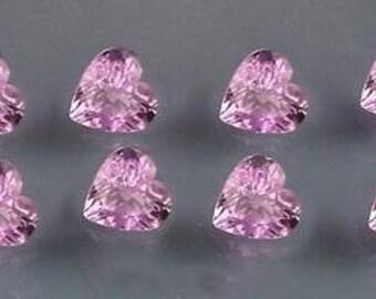 four 4mm amethyst heart gem stone gemstone 3060b