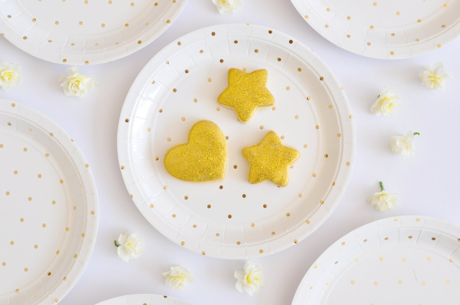 Gold Party Plates Gold Polka Dot Paper Plates Gold Plates Disposable Paper Plates Gold Party Supplies Gold Party Decorations Plates & Gold Party Plates Gold Polka Dot Paper Plates Gold Plates Disposable ...