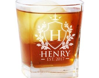 Custom Whiskey Glass, Monogrammed Whiskey Glasses, Rocks Glasses, Scotch Glasses, Engraved Whiskey Glasses, Whiskey Glasses Personalized