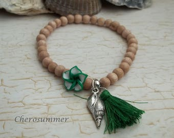 "Summer green bracelet ""Hawaii"""
