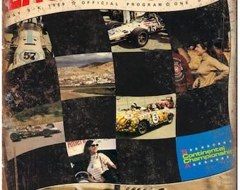 """1969 Laguna Seca Auto Races Ad 10"""" X 7"""" Reproduction Metal Sign A660"""