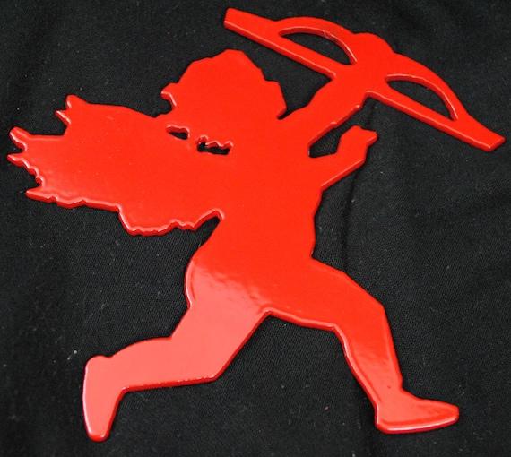 Cupid, Red Cupid, Metal Cupid, Valentine Cupid, Metal Valentine Cupid, Cupid Decoration, Valentine's Day Cupid Ornament, God of Love Cupid